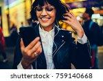 smiling gorgeous girl in... | Shutterstock . vector #759140668