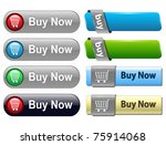 buy buttons set for website ... | Shutterstock .eps vector #75914068