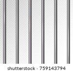 prison bars isolated vector... | Shutterstock .eps vector #759143794