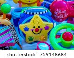 second hand toys in the market... | Shutterstock . vector #759148684