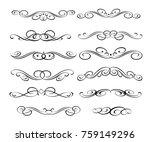 calligraphic elements design...   Shutterstock .eps vector #759149296