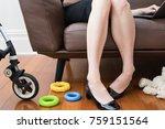 work life balance  working...   Shutterstock . vector #759151564