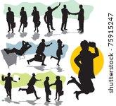 set vector business people... | Shutterstock .eps vector #75915247