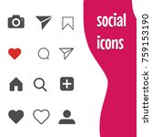 popular social networking icons ... | Shutterstock .eps vector #759153190