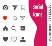 popular social networking icons | Shutterstock .eps vector #759153190