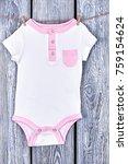 baby girl textured bodysuit on...   Shutterstock . vector #759154624