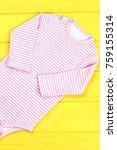 toddler girl soft striped...   Shutterstock . vector #759155314