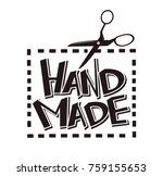 hand made label vector tag... | Shutterstock .eps vector #759155653