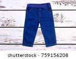 infant kids denim trousers on... | Shutterstock . vector #759156208