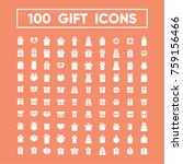 gift and holiday vector icons | Shutterstock .eps vector #759156466