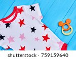 close up of star print baby...   Shutterstock . vector #759159640