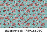 seamless floral pattern in...   Shutterstock .eps vector #759166060