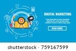 public relations concept banner ... | Shutterstock .eps vector #759167599