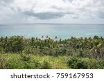 cloudy skies over the turquoise ...   Shutterstock . vector #759167953