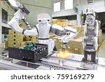 industrial robot installing a... | Shutterstock . vector #759169279