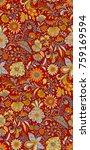 seamless floral pattern | Shutterstock . vector #759169594
