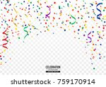 coloful confetti background in... | Shutterstock .eps vector #759170914