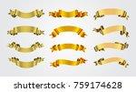 golden ribbon banners.vector... | Shutterstock .eps vector #759174628