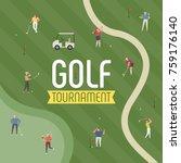 golf ground sports poster... | Shutterstock .eps vector #759176140