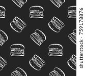 Fast Food Pattern With White...