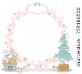 christmas cards to scrapbook.... | Shutterstock .eps vector #759180520