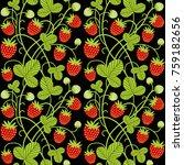 strawberry seamless vector...   Shutterstock .eps vector #759182656