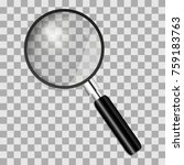 realistic magnifying glass on a ... | Shutterstock .eps vector #759183763