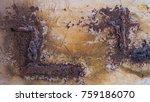 rust metal rust background ... | Shutterstock . vector #759186070