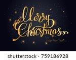 merry christmas lettering...   Shutterstock .eps vector #759186928