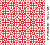 seamless ornamental pattern... | Shutterstock .eps vector #759187054