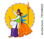 illustration of sikh punjabi... | Shutterstock .eps vector #759188020