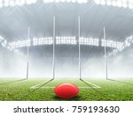 an aussie rules football... | Shutterstock . vector #759193630
