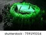 a microscopic closeup concept... | Shutterstock . vector #759195316