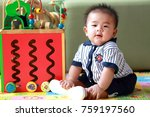 thai boy 6 months old is... | Shutterstock . vector #759197560