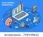 data driven marketing concept... | Shutterstock . vector #759199414