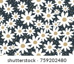 floral pattern. pretty flowers... | Shutterstock .eps vector #759202480