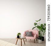 interior design for living area ... | Shutterstock . vector #759203860