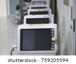 many vital signs monitors... | Shutterstock . vector #759205594