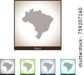 map of brazil | Shutterstock .eps vector #759207160