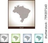map of brazil | Shutterstock .eps vector #759207160