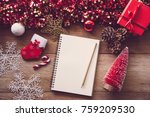 decorations for christmas... | Shutterstock . vector #759209530