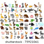 extra large set of animals...   Shutterstock .eps vector #75921061