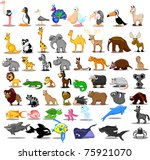 extra large set of animals... | Shutterstock .eps vector #75921070