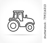 illustration of tractor icon on ... | Shutterstock .eps vector #759216313