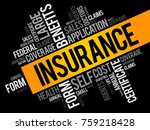 insurance word cloud collage ... | Shutterstock .eps vector #759218428