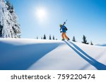 low angle shot of a skier...   Shutterstock . vector #759220474