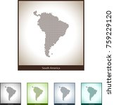 map of south america | Shutterstock .eps vector #759229120