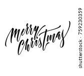 merry christmas hand drawn... | Shutterstock .eps vector #759230359