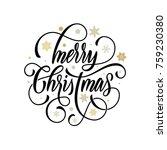 merry christmas flourish hand... | Shutterstock .eps vector #759230380
