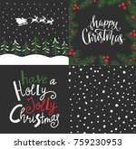 Vector Set With Winter Cards ...